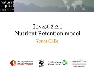 Invest 2.2.1 Nutrient Retention model
