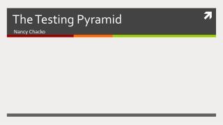 The Testing Pyramid