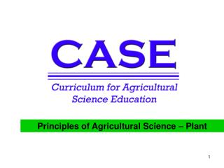 Principles of Agricultural Science – Plant