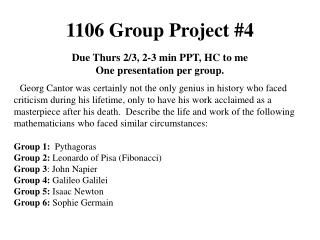 1106 Group Project #4