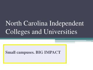 North Carolina Independent Colleges and Universities