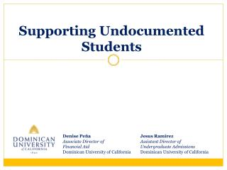 Supporting Undocumented Students
