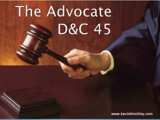 The Advocate D&C 45