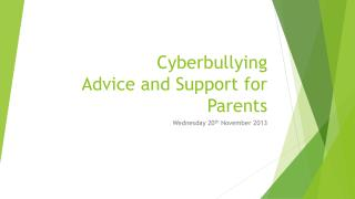 Cyberbullying Advice and Support for Parents