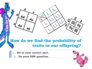 How do we find the probability of traits in our offspring?