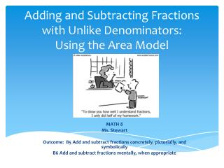 Adding and Subtracting Fractions with Unlike Denominators: Using the Area Model