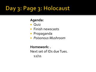 Day 3: Page 3: Holocaust