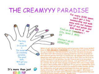 THE CREAMYYY PARADISE