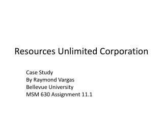 Resources Unlimited Corporation