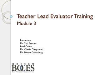 Teacher Lead Evaluator Training