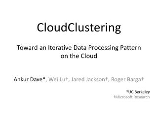CloudClustering
