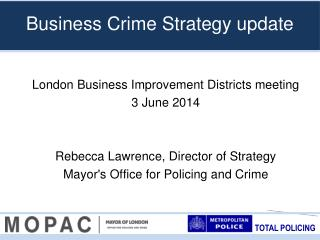 Business Crime Strategy update