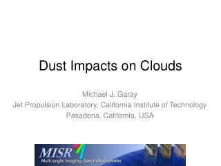 Dust Impacts on Clouds