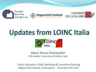 Updates from LOINC Italia