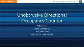 Unobtrusive Directional Occupancy Counter