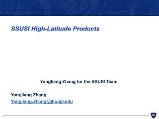 SSUSI High-Latitude Products