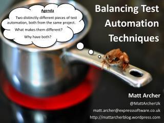 Balancing Test Automation Techniques
