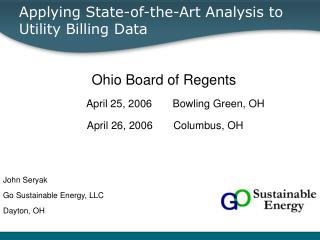 Applying State-of-the-Art Analysis to Utility Billing Data