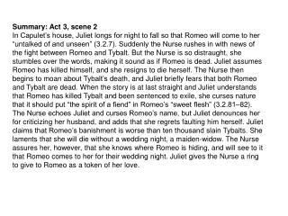 Summary: Act 3, scene 2