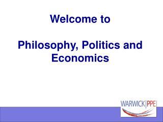 Welcome to Philosophy, Politics and Economics