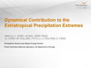 Dynamical Contribution to the Extratropical Precipitation Extremes