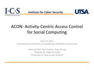 ACON: Activity-Centric Access Control for Social Computing