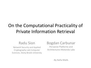 On the Computational Practicality of Private Information Retrieval
