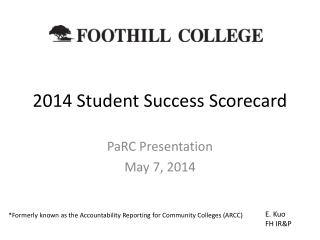 2014 Student Success Scorecard