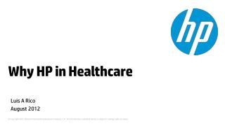 Why HP in Healthcare