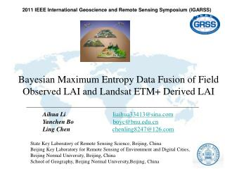 2011 IEEE International  Geoscience and Remote  Sensing Symposium (IGARSS)