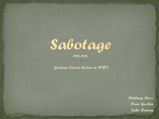 Sabotage 1914-1918