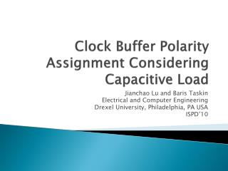 Clock Buffer Polarity Assignment Considering Capacitive Load