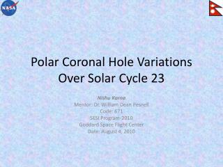 Polar Coronal Hole Variations Over Solar Cycle 23