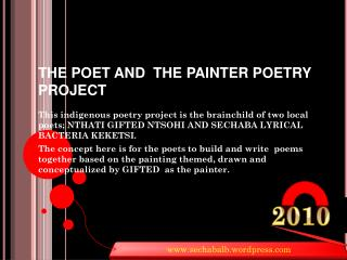 THE POET AND  THE PAINTER POETRY PROJECT