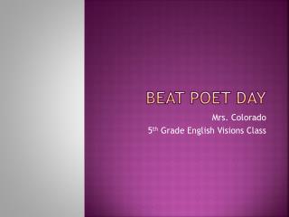 Beat Poet Day