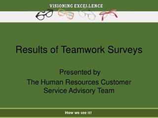 Results of Teamwork Surveys