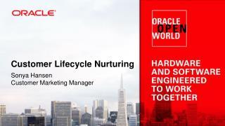 Customer Lifecycle Nurturing