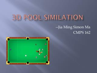3D Pool  similation
