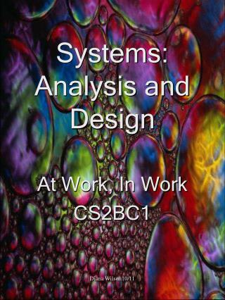 Systems: Analysis and Design