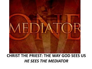 CHRIST  THE PRIEST: THE WAY GOD SEES US                                     HE  SEES THE MEDIATOR
