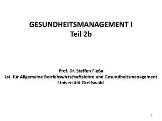 2.2 Struktur des deutschen Krankenhauswesens