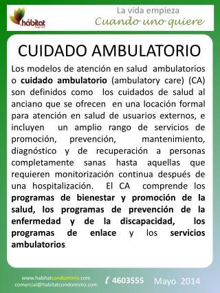 CUIDADO AMBULATORIO