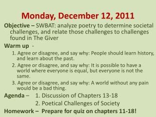 Monday, December 12, 2011