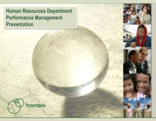 Human Resources Department Performance Management Presentation