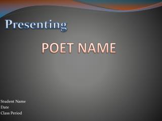 POET NAME
