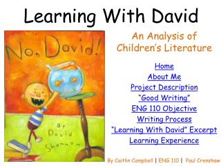 Learning With David