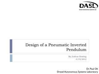 Design of a Pneumatic Inverted Pendulum