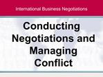International Business Negotiations