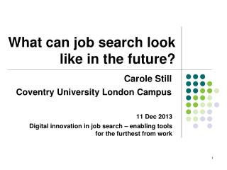 What can job search look like in the future?