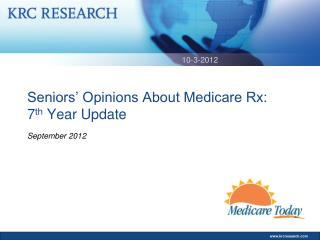 Seniors' Opinions About Medicare Rx: 7 th  Year Update